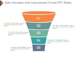 Sale Innovation And Improvement Funnel Ppt Slides