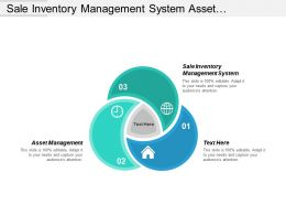 Sale Inventory Management System Asset Management Internet Marketing Cpb