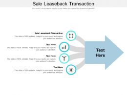 Sale Leaseback Transaction Ppt Powerpoint Outline Demonstration Cpb