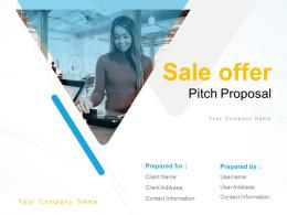 Sale Offer Pitch Proposal Powerpoint Presentation Slides