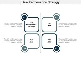 Sale Performance Strategy Ppt Powerpoint Presentation Ideas Cpb