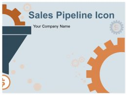 Sale Pipeline Icon Dollar Gear Arrow Funnel Network