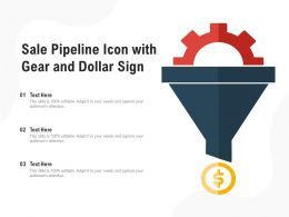 Sale Pipeline Icon With Gear And Dollar Sign