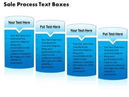 Sale Process Text Boxes Powerpoint templates ppt presentation slides 0812