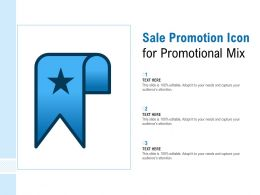 Sale Promotion Icon For Promotional Mix