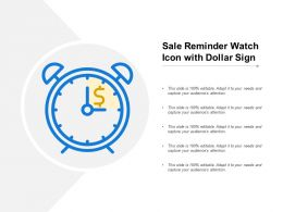 Sale Reminder Watch Icon With Dollar Sign