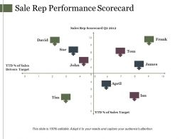 Sale Rep Performance Scorecard Ppt Model