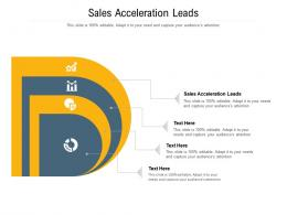 Sales Acceleration Leads Ppt Powerpoint Presentation File Files Cpb