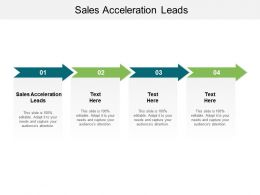 Sales Acceleration Leads Ppt Powerpoint Presentation Portfolio Ideas Cpb