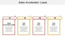 Sales Acceleration Leads Ppt Powerpoint Presentation Show Format Cpb