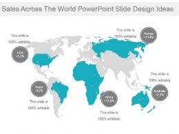 Sales Across The World Powerpoint Slide Design Ideas