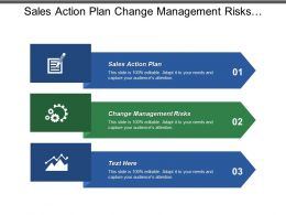 Sales Action Plan Change Management Risks Project Planning Implementation Cpb