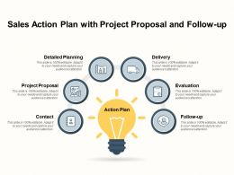 Sales Action Plan With Project Proposal And Follow Up