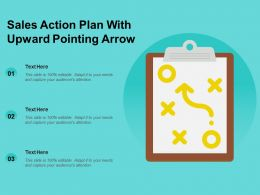 Sales Action Plan With Upward Pointing Arrow