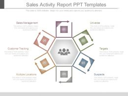 Sales Activity Report Ppt Templates