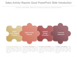 Sales Activity Reports Good Powerpoint Slide Introduction