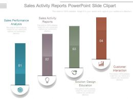 Sales Activity Reports Powerpoint Slide Clipart