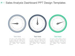 Sales Analysis Dashboard Ppt Design Templates