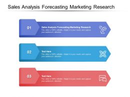 Sales Analysis Forecasting Marketing Research Ppt Powerpoint Presentation Infographic Template Model Cpb