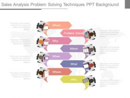 Sales Analysis Problem Solving Techniques Ppt Background