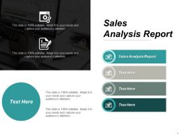 Sales Analysis Report Ppt Powerpoint Presentation Pictures Aids Cpb