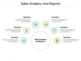 Sales Analytics And Reports Ppt Powerpoint Presentation Gallery Ideas Cpb