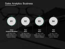 Sales Analytics Business Ppt Powerpoint Presentation Inspiration Infographics Cpb