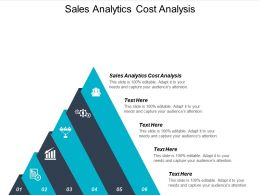 Sales Analytics Cost Analysis Ppt Powerpoint Presentation Inspiration Graphics Cpb