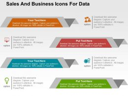 Sales And Business Icons For Data Flat Powerpoint Design