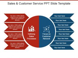 Sales And Customer Service Ppt Slide Template