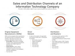 Sales And Distribution Channels Of An Information Technology Company