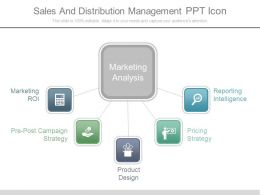 Sales And Distribution Management Ppt Icon