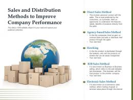 Sales And Distribution Methods To Improve Company Performance