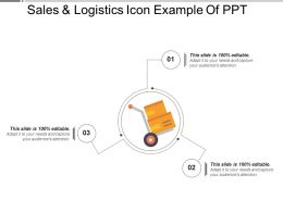 Sales And Logistics Icon Example Of Ppt