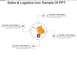 Sales And Logistics Icon Sample Of Ppt