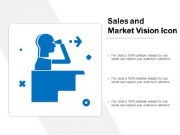 Sales And Market Vision Icon