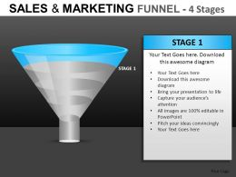 Sales And Marketing 4 Stages Powerpoint Presentation Slides DB