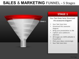 Sales And Marketing 5 Stages Powerpoint Presentation Slides DB