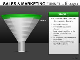 Sales And Marketing 6 Stages Powerpoint Presentation Slides DB