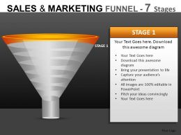 Sales And Marketing 7 Stages Powerpoint Presentation Slides DB