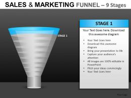 Sales And Marketing 9 Stages Powerpoint Presentation Slides DB