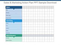 Sales And Marketing Action Plan Ppt Sample Download