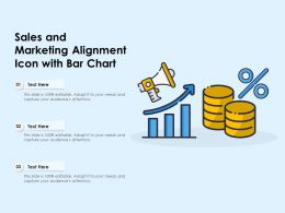 Sales And Marketing Alignment Icon With Bar Chart