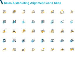 Sales And Marketing Alignment Icons Slide Targets Powerpoint Slides