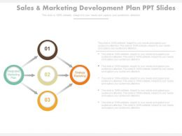 Sales And Marketing Development Plan Ppt Slides