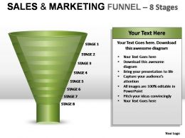 Sales And Marketing Funnel 8 Stages Powerpoint Presentation Slides