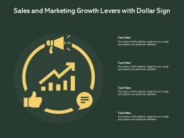 Sales And Marketing Growth Levers With Dollar Sign