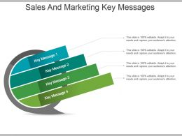 Sales And Marketing Key Messages Powerpoint Slide Themes
