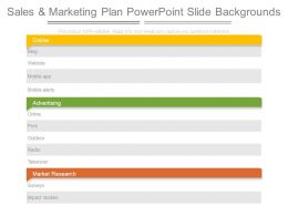 Sales And Marketing Plan Powerpoint Slide Backgrounds