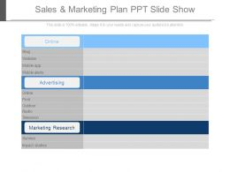 Sales And Marketing Plan Ppt Slide Show